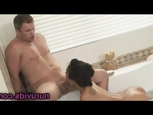 Sweet Asa Akira bathtub sucking