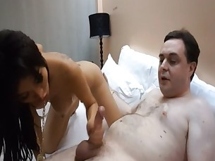 Ladyboy Miu gives a blowjob to Andrea Dipr&egrave_