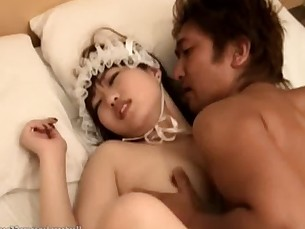 Japanese Cutie Gets Railed Hard And Sprayed With Cum