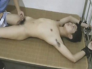 Cute Asian Slave Boy Stripped Naked And Got Milked
