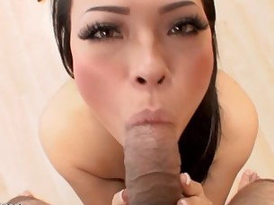 Gorgeous Asian Gia Grace eager for huge cum facial