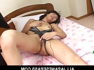 Horny MILF toys her pussy with a green micro vib