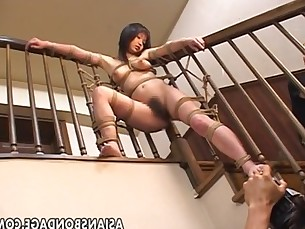 Ravishing Japanese chick tied up and tormented