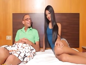 Asian TS Plays with Huge Fucking Cock