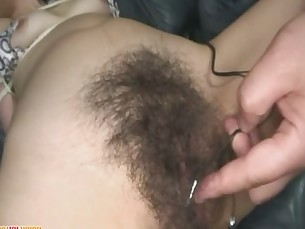 Kaoru Hairy Pussy Gets Filled With Toys