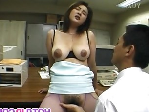 Yui sucks dongs and is drilled in asshole