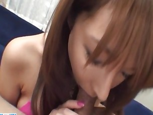 Serina Hayakawa engufling a big dong in sloppy manners