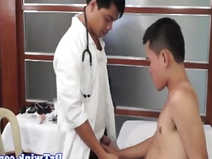 Dr twink gets bj and fucks patients ass
