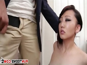 Small Asian Gets Tied Up And Mouth Fucked