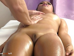 Hairless Asian mound massaged and finger fucked