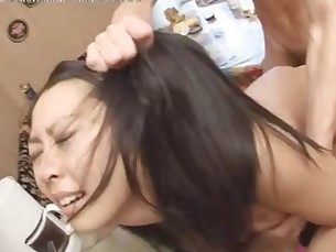 Japanese Whore Fucked In the Kitchen