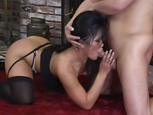 Very sexy asian woman fucks her man