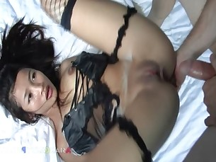 Young girl turns into an anal trooper