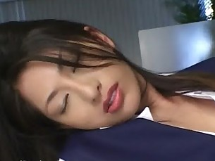 Bored lady finds pleasure from rubbing her own pussy and tits