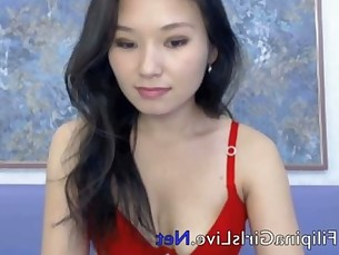 FilipinaGirlsLive.Net Filipina stripper huge Asian tits dildo pussy masterbates